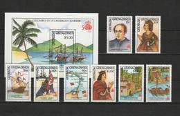 Grenada - Grenadines 1987 Ships, Christopher Columbus, 500th Anniversary Discovery Of America Set Of 8 + S/s MNH - Cristoforo Colombo