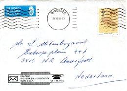 SUD-OUEST AFRICAIN (SWA). N°588 De 1988 Sur Enveloppe Ayant Circulé. Outarde. - Grues Et Gruiformes