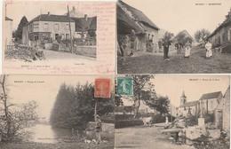 4 CPA:BRASSY (58)BONNETRÉ,ROUTE DE LA GARE,ÉPICERIE PARNOT,HOMME ÉTANG DE LAVAULT...ÉCRITES - France