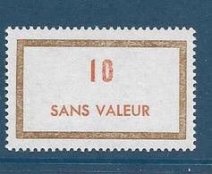 Timbre  Fictif Neuf** France, N°F 187, 10 - Fictie