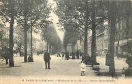 75019 - PARIS - Station De Métro Combat Au Boulevard De La Villette - District 19
