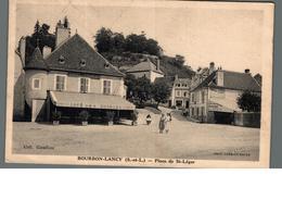 Cpa Bourbon. Lancy Place De St-léger - France