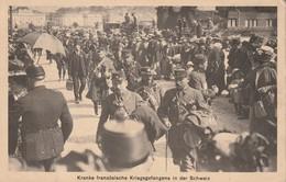 Guerre 14-18, Kranke Französische Kriegsgefangene In Der Schweiz (Prisonniers De Guerre Français Malades En Suisse) - Guerra 1914-18