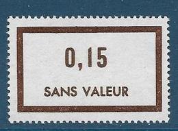 Timbre  Fictif Neuf** France, N°F 195, 0.15 - Fictie