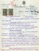 1927 YUGOSLAVIA, CROATIA, ZAGREB, VLADIMIR ARKO, SUPPLY  OFFER ON LETTERHEAD, 2 FISKAL STAMPS - Invoices & Commercial Documents
