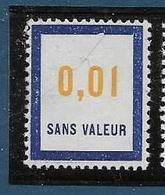Timbre  Fictif Neuf** France, N°F 158, 0.01 - Fictie