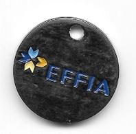 Jeton De Caddie  EFFIA, Créée En 1998, Est Une Société Anonyme Dont Le Capital De 3 136 000 € Est Détenu à 100 % - Einkaufswagen-Chips (EKW)