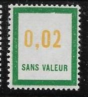 Timbre  Fictif Neuf** France, N°F 159, 0.02 - Fictie