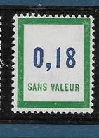 Timbre  Fictif Neuf** France, N°F 161, 0.18 - Fictie