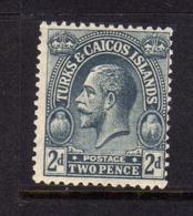 TURKS AND CAICOS 1922 1926 KING GEORGE V RE GIORGIO 2p MNH - Turks E Caicos