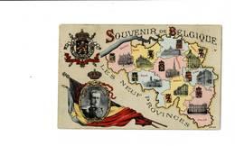 Souvenir De Belgique. Les Neuf Provinces. - Cartes Géographiques