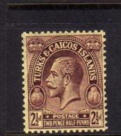 TURKS AND CAICOS 1922 1926 KING GEORGE V RE GIORGIO 2 1/2p MNH - Turks E Caicos