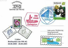 2005 Deutschland Privatpost Privatpost Pin Mail, 5 Jahre Briefmarken Der PIN AG  Kahnpost Spreewald - [7] Federal Republic