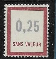 Timbre  Fictif Neuf** France, N°F 145, 0.25 - Fictie