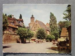 CP Allemagne BUDINGEN (oberhessen ) - Schlossplatz 1977 - Timbre Navette Spaciale - Wetterau - Kreis