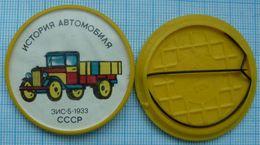 USSR / Badge / Soviet Union / Car History. Transport Truck ZIS-5. 1933. 1970s - Other