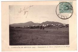 CAMPANA DE MELILLA 1909 - Campamento De Moros Refujïado En La Plaza - Melilla