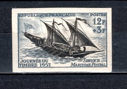 FRANCE  N° 1093a  NON DENTELE NEUF SANS CHARNIERE  COTE 27.00€   JOURNEE DU TIMBRE BATEAUX - France