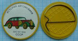 USSR / Badge / Soviet Union / Car History. Transport Passenger Car ZIS-101. 1936. 1970s - Other