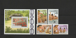 Turks & Caicos Islands 1989 Indians, Christopher Columbus, 500th Anniversary Discovery Of America Set Of 4 + S/s MNH - Cristoforo Colombo