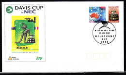 Australie Persoonlijke Zegel: 2001  Davis Cup Tennis Finale Australie-Frankrijk FDC - Usati