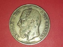 SUPERBE 5 FRANCS ARGENT LEOPOLD II 1873 Non Nettoyé  ! Voir Photos - 09. 5 Francs