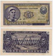 Banknote  5 Lei 1952 -Romania - Romania