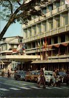 !  Postcard Paramaribo, Suriname, Hotel, Fiat, VW Käfer. Cars - Suriname