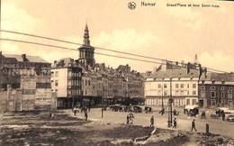 Namur - Grand'Place Et Tour Saint-Jean (animée... Marché) - Namur
