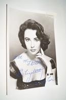 RARE Photo Avec Autographe Original Elisabeth Taylor ,18 Cm. Sur 12,5 Cm - Autographes