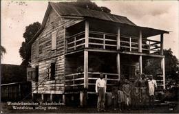 !  Old Photo Postcard Alte Fotokarte, Afrika, Westafrican Selling Store, 1930, Schiffspost, S.S. Waregga, Woermann Linie - Ohne Zuordnung
