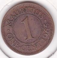 Ile Maurice , 1 Cent 1965 , Elizabeth II - Mauricio