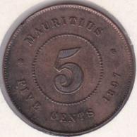 Ile Maurice , 5 Cents 1897 , Victoria - Mauritius