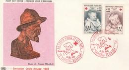 REUNION FDC Yvert 366 Et 367 Paire Croix Rouge Renoir 12/12/1965 - Art Peinture - Illustration 1 - Réunion (1852-1975)