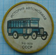 USSR / Badge / Soviet Union / Car History. Transport Bus YA-6.1929. 1970s - Other