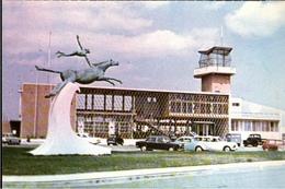 !  Modern Postcard Lobito, Angola, Flughafen, Aeroporto, Airport, Tower, Autos, Cars - Aerodrome