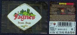 Belgique Lot 2 Étiquettes Bière Beer Labels Fagnes Brune - Beer