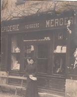 SAINT CHAMANT CARTE PHOTO  VEUVE DE JEAN LAJORMIE EPICERIE MERCERIE OU CANTAL - France