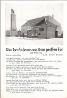 Soldatenlied Vor Der Kaserne, Vor Dem Großen Tor, Lili Marleen, Propaganda Postkarte Deutsches Reich, III. Reich Ungelau - Weltkrieg 1939-45