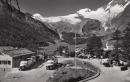 Oldtimer-Bus-Flotte In SAAS FEE (Auto Post, Postauto), Um 1950 - VS Valais
