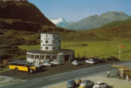 Hotel Monte-Leone, SIMPLONPASS, SIMPLON, BRIG, Alter Postbus (Oldtimer), Um 1960 - VS Valais