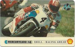 UK (Paytelco) - Shell - Racing Bikes (with Bar Code) - PYSH007A - 3PSHB - 45.260ex, Used - Reino Unido