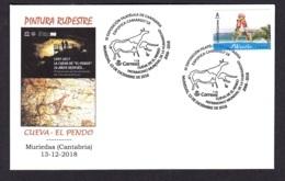 15.- SPAIN ESPAGNE 2018 SPECIAL POSTMARK ROCK ART PREHISTORY EL PENDO CAVE - MURIEDAS CANTABRIA - Arqueología