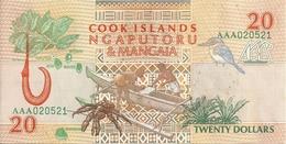COOK ISLANDS 20 DOLLARS 1992 UNC P 9 - Cook
