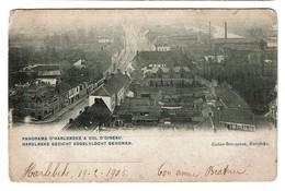 Panorama D'Harelbeke à Vol D'oiseau / Harelbeke Gezicht Vogelvlocht Genomen - 1905 - 2 Scans - Harelbeke