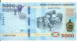 BURUNDI 5000 FRANCS 2018 UNC P 53 New - Burundi
