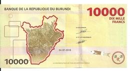 BURUNDI 10000 FRANCS 2018 UNC P 54 New - Burundi