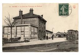 CPA.51 - Reims - La Gare Des Tramways De Banlieue,Animée         .E.59 - Reims
