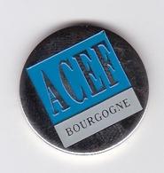 Jeton De Caddie En Métal - ACEF Bourgogne - Mutuelles & Assurances - Banque Populaire - Einkaufswagen-Chips (EKW)