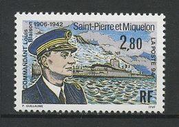 SPM MIQUELON 1994  N° 592 ** Neuf MNH Superbe C 1.65 €  Louis Blaison Bateaux Sous Marin Submersible Transports - Neufs